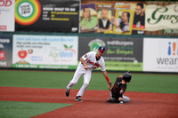 Colby Woodmansee tags Ryan McKenna, MiLB: Brooklyn Cyclones vs. Aberdeen Ironbirds