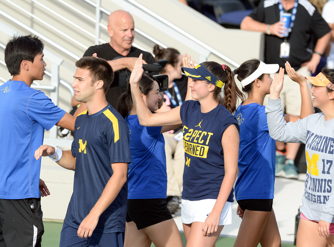 2017 Tennis On Campus National Championship, University of California, Irvine, University of Michigan
