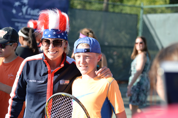 Fed Cup community kids' clinic,