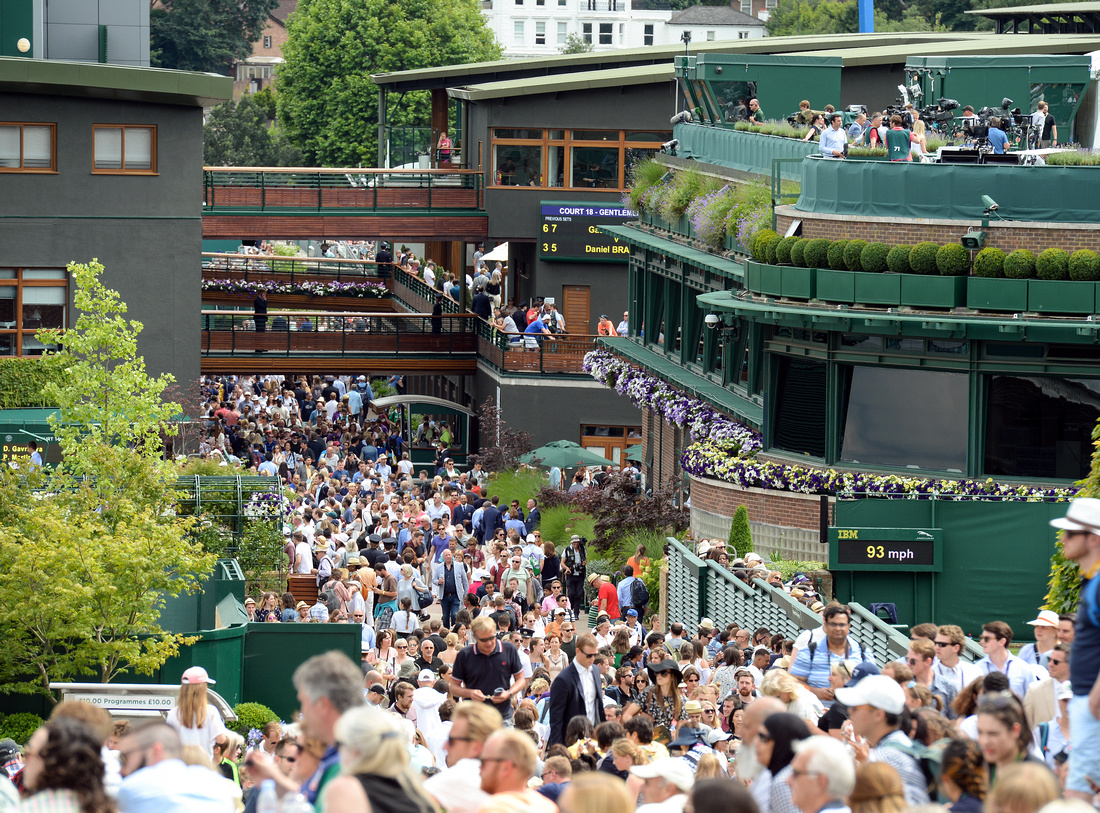 Wimbledon 2017 Day 2, Grounds