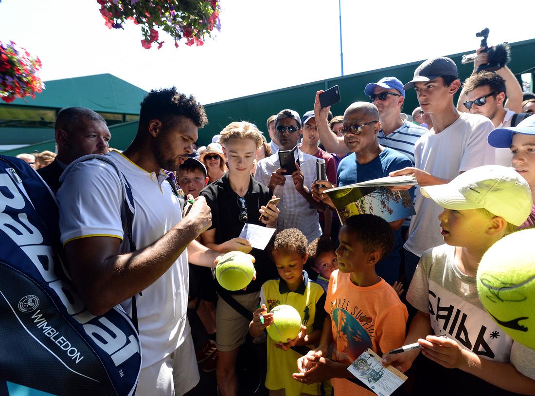 Wimbledon 2017 Day 3, Jo-Wilfried Tsonga