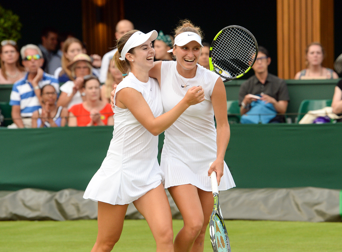 Wimbledon 2017 Day 4, CiCi Bellis and Markeeta Vondrousova