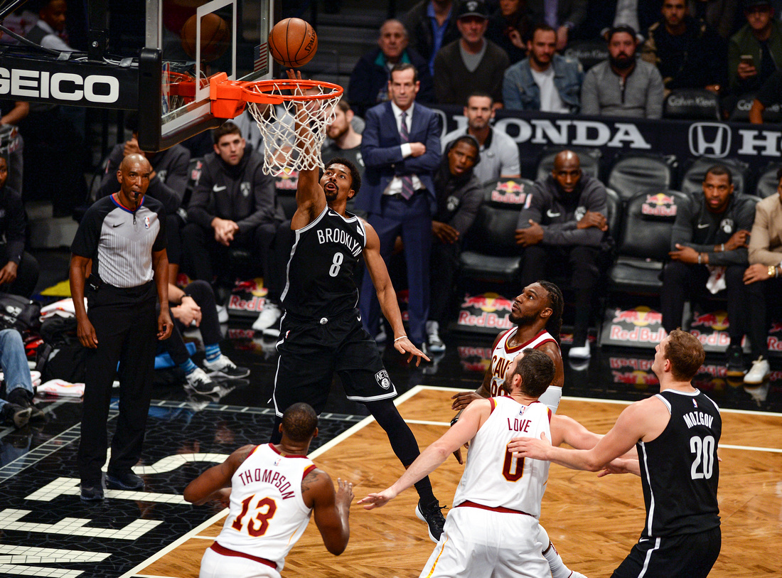 NBA: Brooklyn Nets vs. Cleveland Cavaliers, Brooklyn Nets point guard Spencer Dinwiddie
