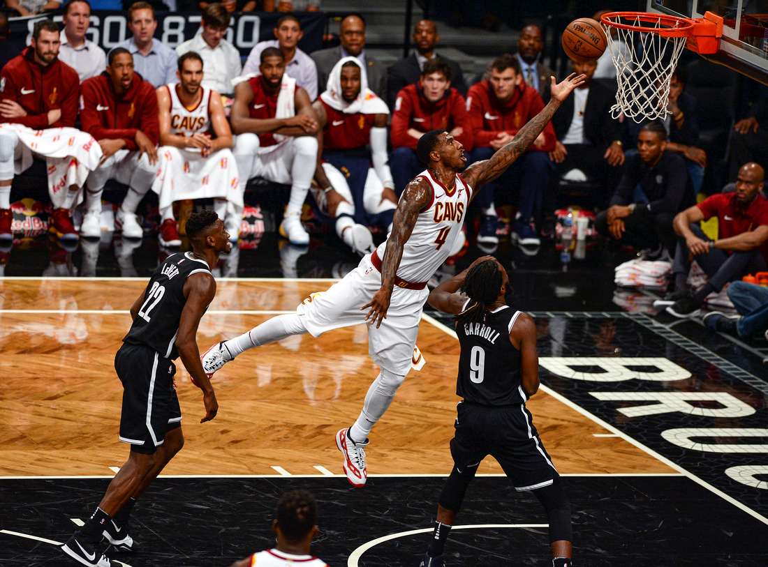 NBA: Brooklyn Nets vs. Cleveland Cavaliers, Cleveland Cavaliers shooting guard Iman Shumpert (4)