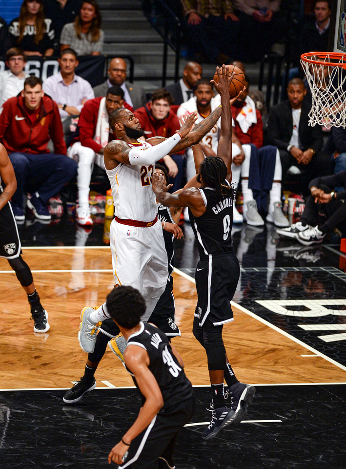 NBA: Brooklyn Nets vs. Cleveland Cavaliers, Cleveland Cavaliers power forward LeBron James (23)
