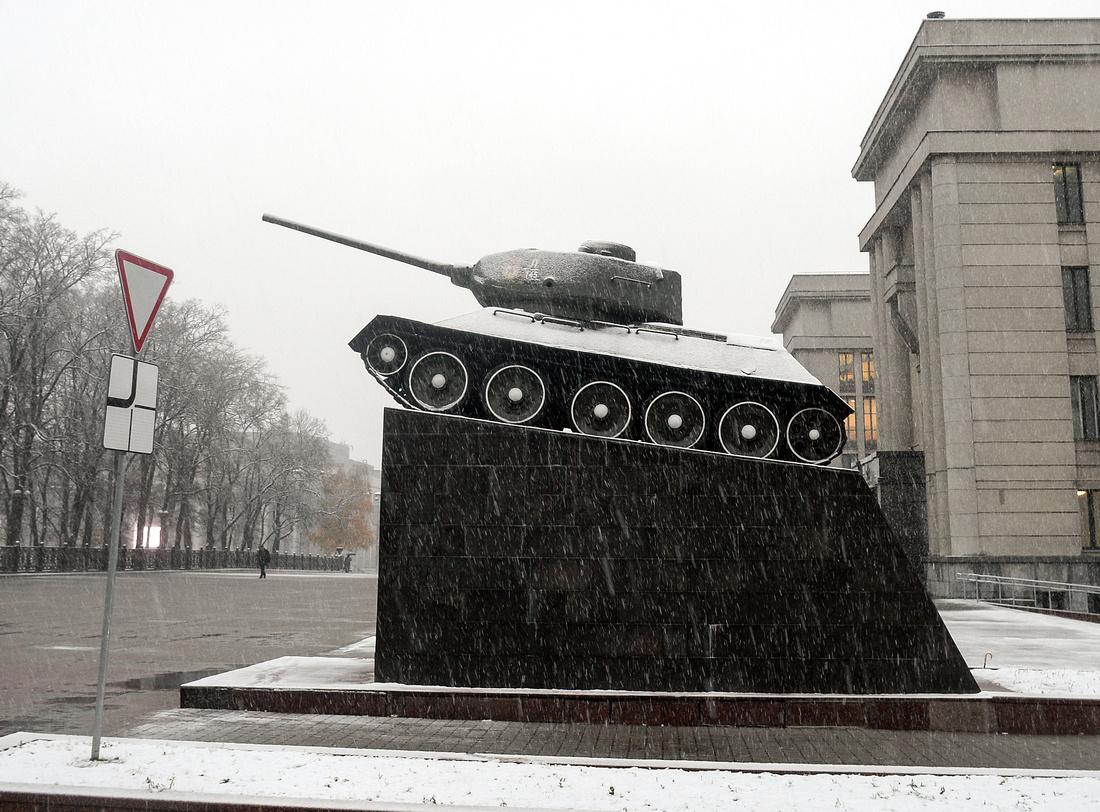 Visiting Belarus, T34 tank