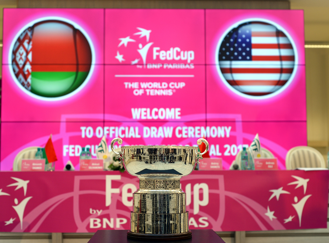 2017 Fed Cup Final: USA vs. Belarus, draw ceremony