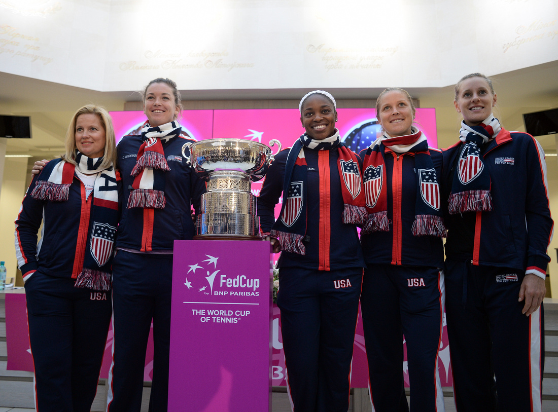 2017 Fed Cup Final: USA vs. Belarus, draw ceremony, Shelby Rogers, Coco Vandeweghe, Alison Riske and Sloane Stephens