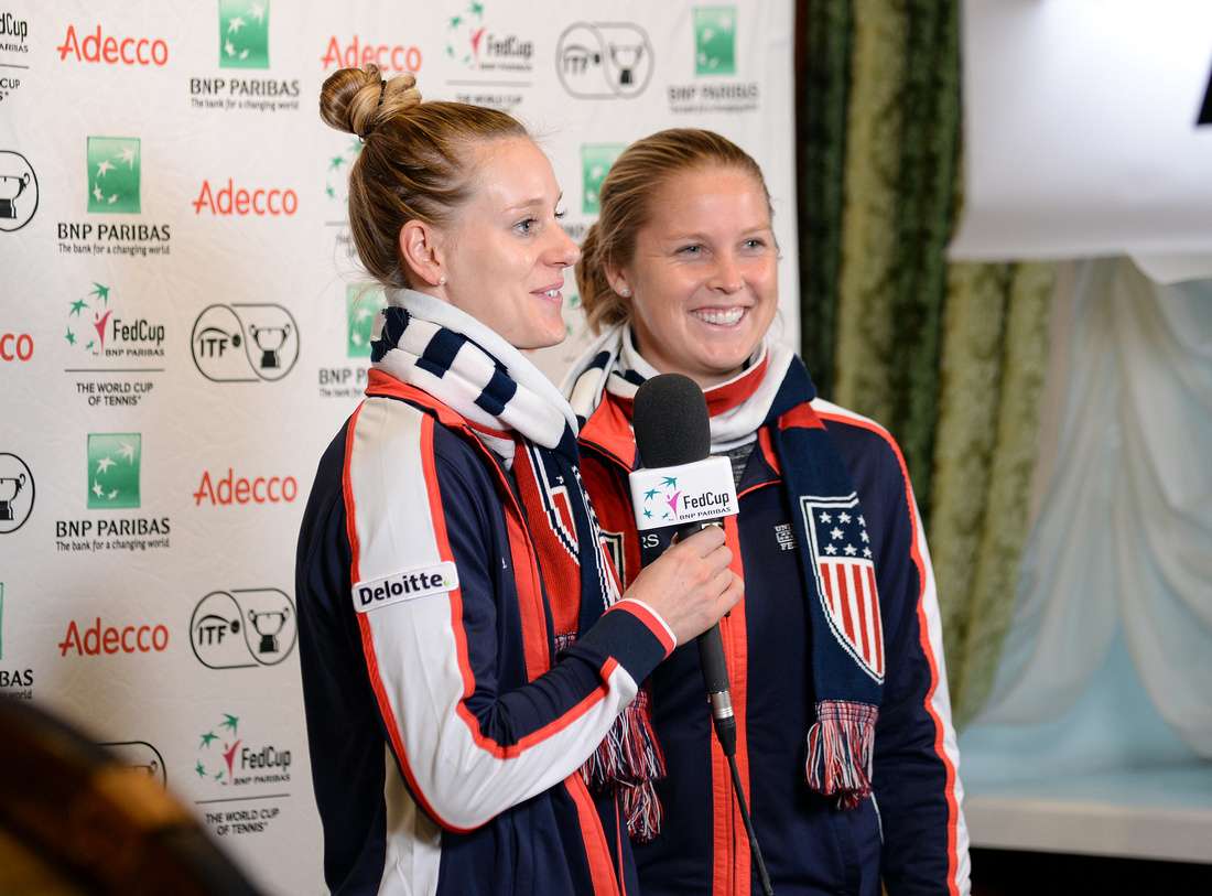 2017 Fed Cup Final: USA vs. Belarus, draw ceremony, Alison Riske