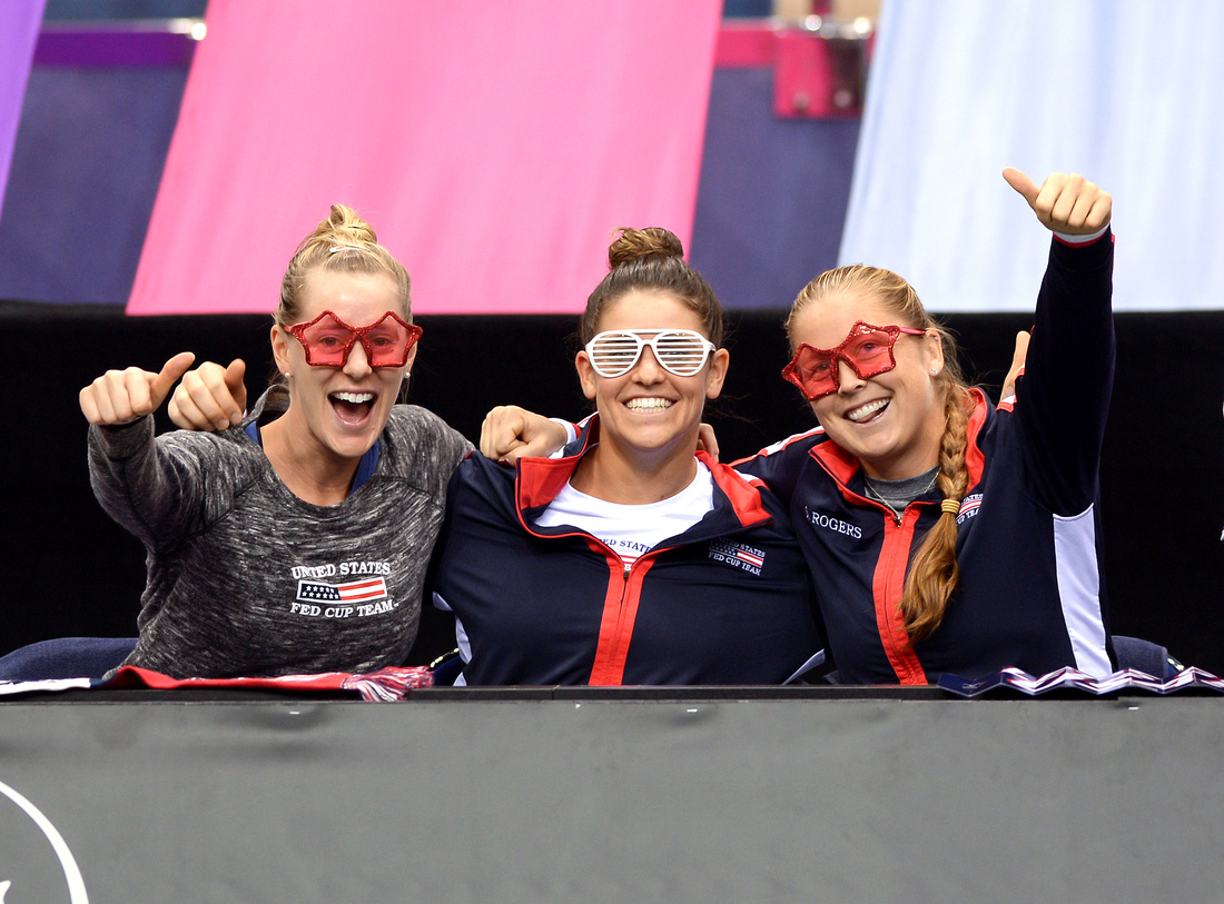 2017 Fed Cup Final: USA vs. Belarus, Alison Riske, Jen Brady and Shelby Rogers
