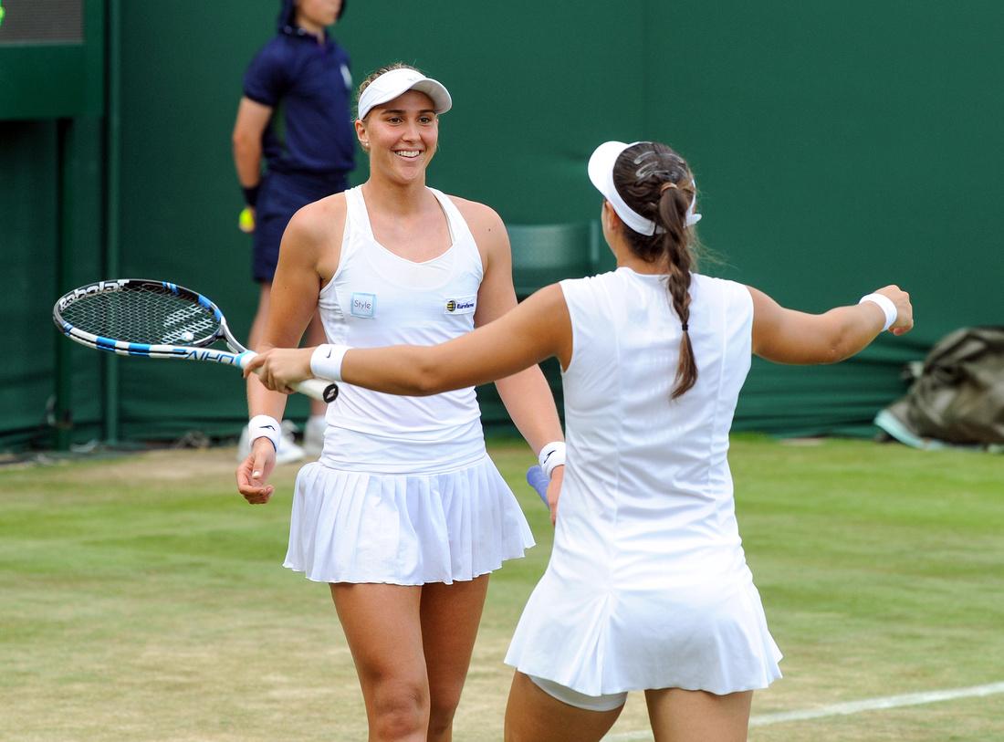 Wimbledon 2017 Day 4, Ana Konjuh and Beatriz Haddad Maia