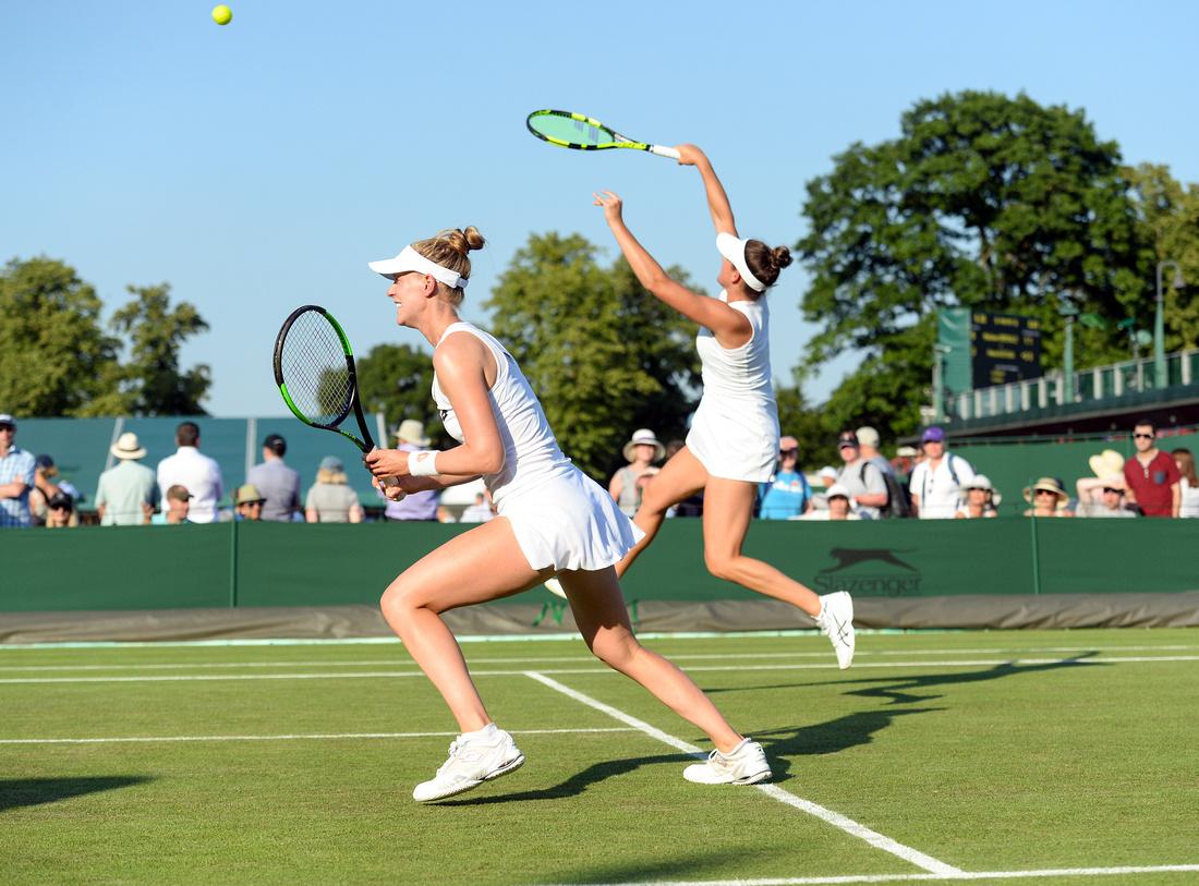 Wimbledon 2017 Day 3, Jennifer Brady and Alison Riske