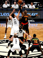 NBA: Brooklyn Nets vs. Atlanta Hawks, Dwight Howard, Brook Lopez